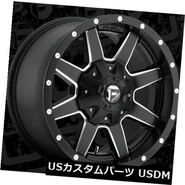 海外輸入ホイール 17x9 ET1 Fuel D538 Maverick 6x135 / 6x139.7ブラックミルドホイール(4個セット) 17x9 ET1 Fuel D538 Maverick 6x135/6x139.7 Black Milled Wheels (Set of 4)