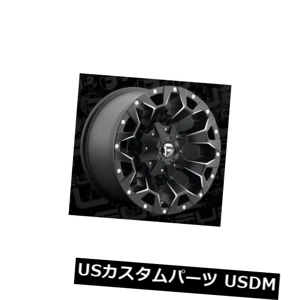 海外輸入ホイール 17x9 ET-12 Fuel D546 Assault 5x139.7 / 5x150 Black Milled Wheels(4個セット) 17x9 ET-12 Fuel D546 Assault 5x139.7/5x150 Black Milled Wheels (Set of 4)