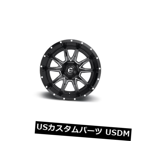 海外輸入ホイール 17x9 ET1 Fuel D627 Vandal 5x139.7 / 5x150 Black Milled Wheels(4個セット) 17x9 ET1 Fuel D627 Vandal 5x139.7/5x150 Black Milled Wheels (Set of 4)
