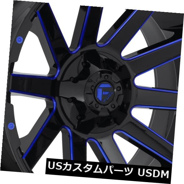 代引き手数料無料 海外輸入ホイール 24x14 Fuel ET-75 Fuel D644 D644 Contra 8x180 Black 24x14 w/ Candy Blue Rims(4個セット) 24x14 ET-75 Fuel D644 Contra 8x180 Black w/Candy Blue Rims (Set of 4), 絵画販売アートレスト:eae3bcde --- scrabblewordsfinder.net