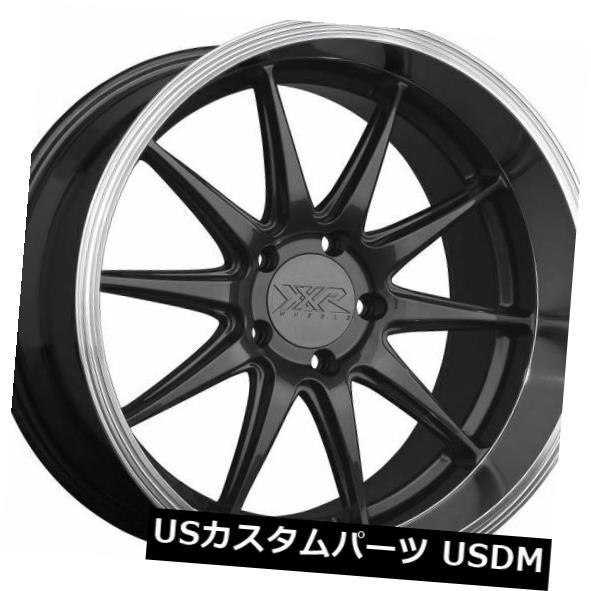 海外輸入ホイール 18x9 +20 XXR 527Dホイール5x114.3グラファイト/ MLリム(4個セット) 18x9 +20 XXR 527D Wheels 5x114.3 Graphite / ML Rims (Set of 4)