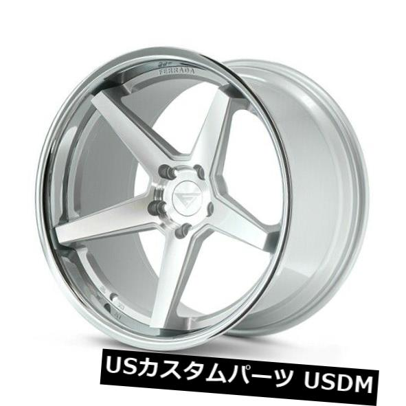 海外輸入ホイール 19x10.5 Ferrada FR3 5x112 25 Machine Silver Chrome Lip Wheels 4個セット 19x10.5 Ferrada FR3 5x112 25 Machine Silver Chrome