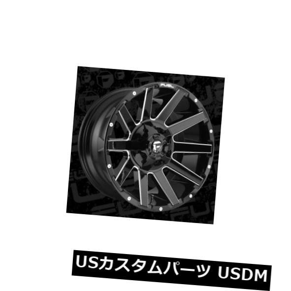 2021年新作入荷 海外輸入ホイール 22x10 Fuel D615 Contra 6x135/6x139.7 ET-18 Black & Milled Rims (Set of 4), アイスタジオ 26e15014