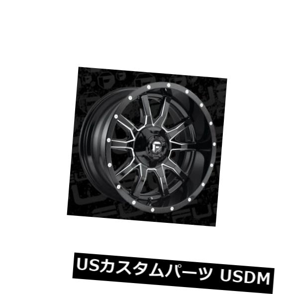海外輸入ホイール 20x12 Fuel D627 Vandal 5x114.3 5x127 ET-43 Black Milled Wheels Set of 4 当店人気 おすすめ おしゃれ トレンド お彼岸 プレゼント 開業祝 販促品 母の日