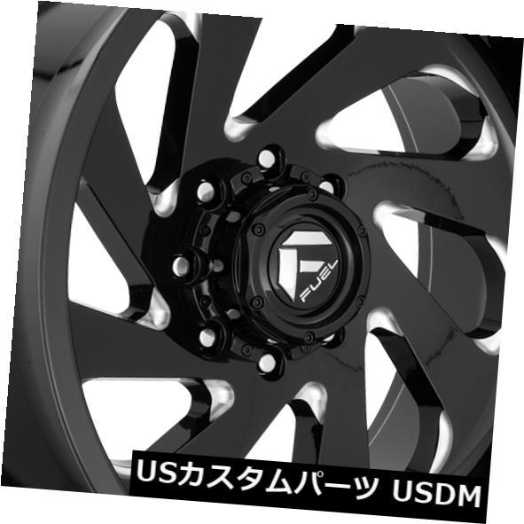 お見舞い 海外輸入ホイール 22x12 Fuel D637 Vortex 8x165.1 (Set ET-44 Black D637 8x165.1 & Milled Rims (Set of 4), シルク専門店イーズクリエーション:de6c7bff --- inglin-transporte.ch