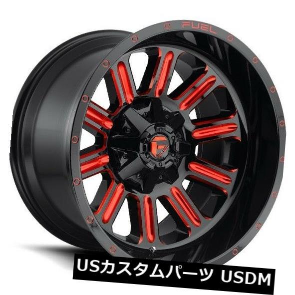 最低価格の 海外輸入ホイール 22x12フューエルD621 8x170 ET-44グロスレッドホイール(4個セット) 22x12 FUEL D621 8x170 ET-44 Gloss RED Wheels (Set of 4), 豊津町 659629e9