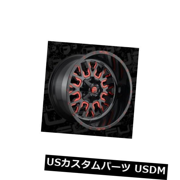 気質アップ 海外輸入ホイール 22x12燃料D612ストローク8x165.1 ET-44ブラック(キャンディレッドリム付き)(4個セット) 22x12 Fuel D612 Stroke 8x165.1 ET-44 Black w/Candy Red Rims (Set of 4), 養鼈園 6cb61c97