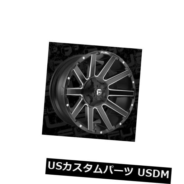 驚きの値段 海外輸入ホイール 5x114.3/5x127 22x10 ET-18 Fuel D616 Contra 5x114.3/5x127 ET-18 Black Rims & Milled Rims (Set of 4), 高級筆記具の専門店 ペンタイム:c6ea2336 --- greencard.progsite.com