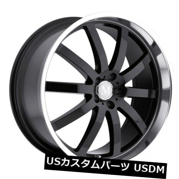大洲市 海外輸入ホイール 20x8.5 Mandrus Wilhelm 5x112リム+25ブラックホイール(4個セット) 20x8.5 Mandrus Wilhelm 5x112 Rims +25 Black Wheels (Set of 4), mir's c851950e
