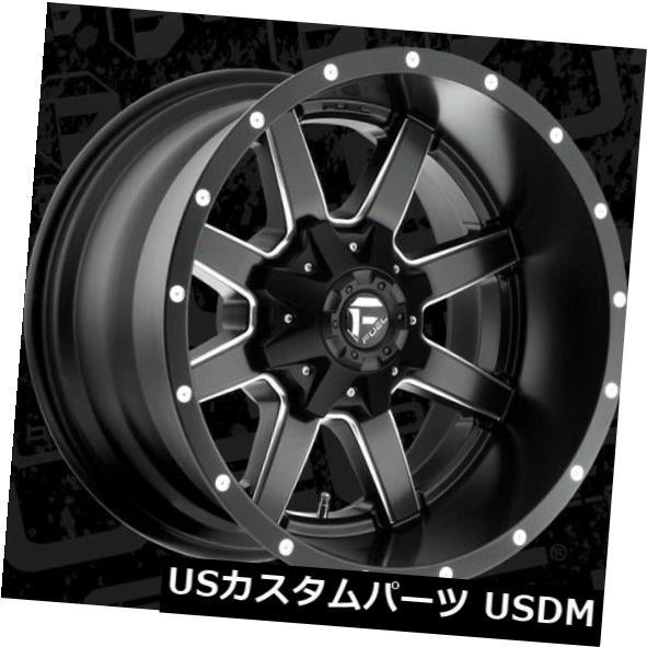 大きい割引 海外輸入ホイール 20x12 Fuel 20x12 D538 of Maverick 5x139.7 5x139.7/5x150/5x150 ET-44 Black & Milled Rims (Set of 4), タイヤショップ WORLD:7de91a18 --- beautyflurry.com