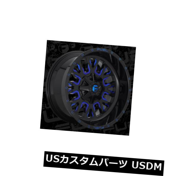 良質  海外輸入ホイール 22x12燃料D645ストローク6x135 of/ 6x139.7 Wheels ET-44ブラック(キャンディブルーホイール付き)(4個セット) 22x12 Fuel D645 Stroke (Set 6x135/6x139.7 ET-44 Black w/Candy Blue Wheels (Set of 4), 富士ミネラルウォーター(株):193adfa2 --- mail.analogbeats.com