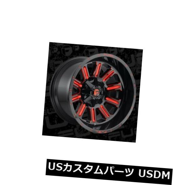 海外輸入ホイール 22x12 Fuel D621 Hardline 6x135 6x139.7 ET-44 Black w Candy Red Rims 4個セット 22x12 Fuel D621 Hardline 6x135 6x139.7 ET-44
