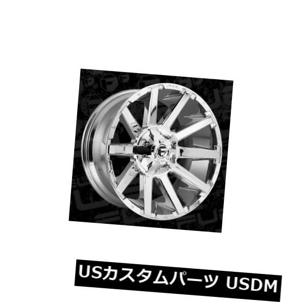 車用品 バイク用品 >> タイヤ ホイール 海外輸入ホイール 22x12 Fuel D614 Contra ET-44クロムリム Chrome 大人気! 4 of Set 4個セット 8x180 オリジナル Rims ET-44