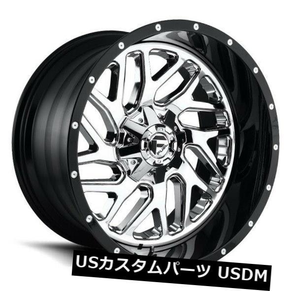 超人気 海外輸入ホイール 22x10燃料D211 6x135 / 5.5 ET-13クロームホイール(4個セット) 22x10 FUEL D211 6x135/5.5 ET-13 Chrome Wheels (Set of 4), EASY NAVY a1ace52b