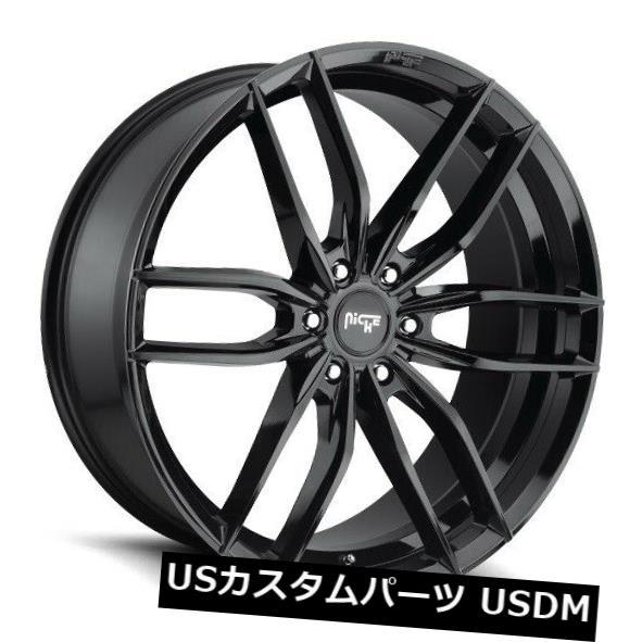 海外輸入ホイール 20x9ニッチリムM209 Vosso 6x135 ET20ブラックリム 4個セット 20x9 Niche Rims M209 Vosso 6x135 ET20 Black Rims Set of 4