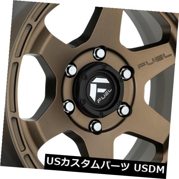 海外輸入ホイール 20x9燃料D666 Shok 6x139.7 ET19ブロンズリム 4個セット 20x9 Fuel D666 Shok 6x139.7 ET19 Bronze Rims Set of 4