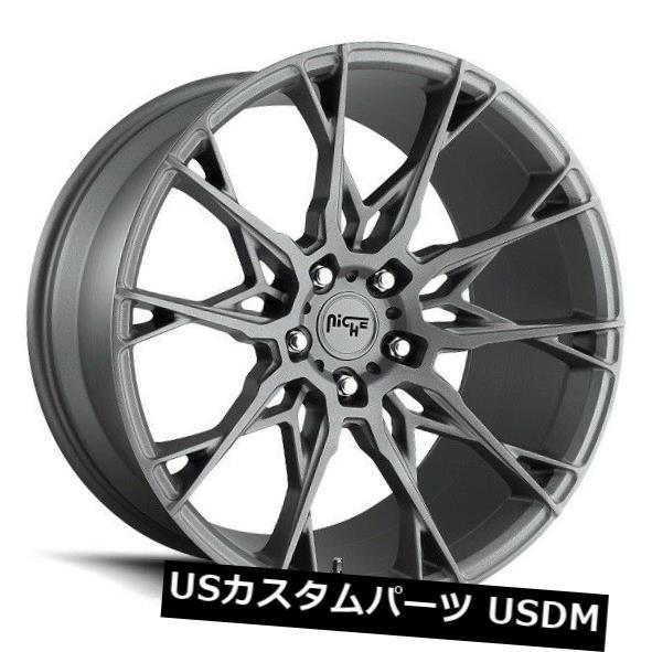 (訳ありセール 格安) 海外輸入ホイール 22x10 NICHE STACCATO M182 5x130 +50マットガンメタルホイール(4個セット) 22x10 NICHE STACCATO M182 5x130 +50 Matte GunMetal Wheels (Set of 4), ノダシ 4cf81a61