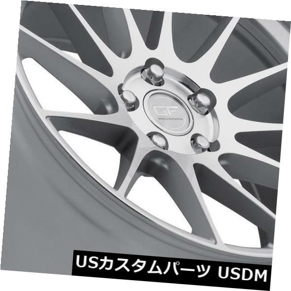 海外輸入ホイール Ground Force GF6 19x8.5 / 19x10.5 5x115シルバーホイール(4個セット) Ground Force GF6 19x8.5/19x10.5 5x115 Silver Wheels (set of 4)