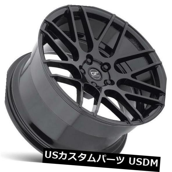 海外輸入ホイール 19x9.5 MRR GF7 5x114.3 +15ブラックホイール(4)の新しいセット 19x9.5 MRR GF7 5x114.3 +15 Black Wheels New Set of (4)