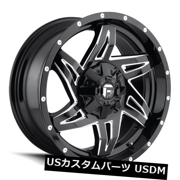【最安値に挑戦】 海外輸入ホイール 20x9 4) Fuel D613 Rocker 8x180 ET20 Rims Black 8x180 & Milled Rims (Set of 4), 榎本通商:b4d7f2da --- lms.imergex.tech