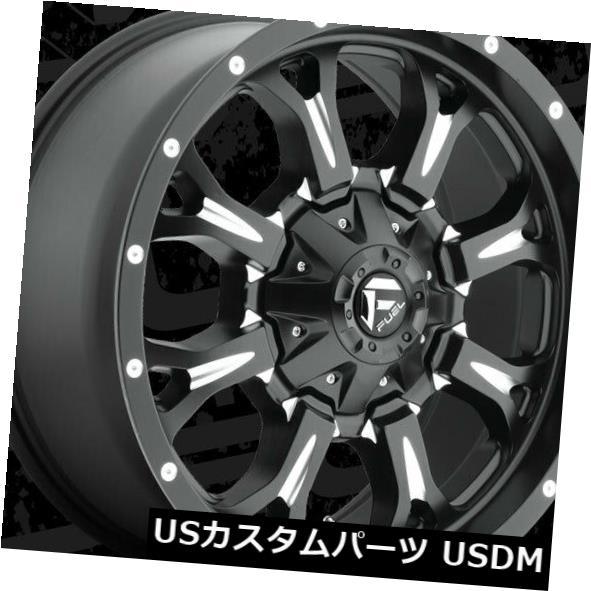 【ついに再販開始!】 海外輸入ホイール 20x9 Fuel D517 Krank 8x180 ET20 Black & Milled Rims (Set of 4), SPORTSFACTORY fdba60c1
