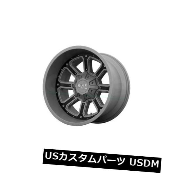 海外輸入ホイール 20x10 MOTO METAL SHIFT 8x180 ET-24 Matte Grey W G-Blk Inserts Wheels 4個セット 20x10 MOTO METAL SHIFT 8x180 ET-24 Matte Gra