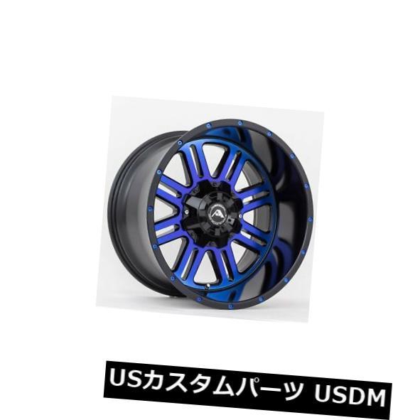 素晴らしい品質 海外輸入ホイール 20x12アメリカンオフロードA106 5x5.5(5x139.7)ET-44ブラックブルーティントリム(4個セット) 20x12 American OffRoad A106 5x5.5(5x139.7) ET-44 Black Blue Tint Rims (Set of 4), LOVE GLITTER be7cf6db
