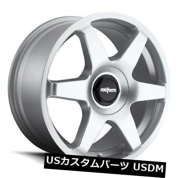セットアップ 海外輸入ホイール of 19x8.5 Rotiform SIX R114 5x100/ Silver 112 5x100/112 +35シルバーホイール(4個セット) 19x8.5 Rotiform SIX R114 5x100/112 +35 Silver Wheels (Set of 4), コスメリーフ:eb45fdb3 --- medsdots.com