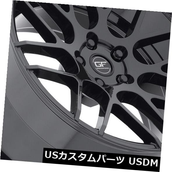 海外輸入ホイール グラウンドフォースGF7 19x8.5 19x9.5 5x115ブラックホイール 4個セット Ground Force GF7 19x8.5 19x9.5 5x115 Black Wheels set of 4 年始 結婚式引出物 還暦祝