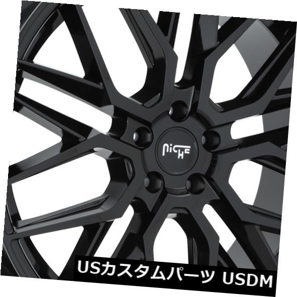 『4年保証』 海外輸入ホイール 22x9ニッチリムM224ガンマ5x115 ET15ブラックリム(4個セット) 5x115 22x9 Black Niche Rims of M224 Gamma 5x115 ET15 Black Rims (Set of 4), シャリキムラ:9c892107 --- beautyflurry.com