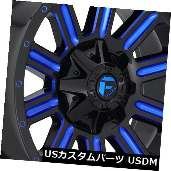 オープニング 大放出セール 海外輸入ホイール 20x10 Fuel D646 Hardline 6x135 / 6x139.7 ET-19 Black w / Blue Wheels(4個セット) 20x10 Fuel D646 Hardline 6x135/6x139.7 ET-19 Black w/ Blue Wheels (Set of 4), ミヤキグン 1fdc7000