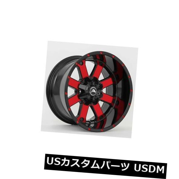 海外輸入ホイール 20x12 American OffRoad A108 5x5(5x127)ET-44ブラックレッドティントリム(4個セット) 20x12 American OffRoad A108 5x5(5x127) ET-44 Black Red Tint Rims (Set of 4)