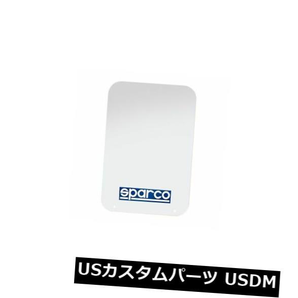 マッドガード 泥除け Sparco 3791マッドフラップ28×47 cmホワイトカラー2ペアユニバーサル Sparco 3791 Mud Flaps 28x47 cm White Color Set of 2 Pair Universal