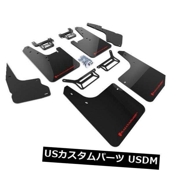 マッドガード 泥除け ラリーアーマーURブラックマッドフラップキット(2012-2019トヨタ4ランナー用レッドロゴ付) Rally Armor UR Black Mud Flaps Kit w/ Red Logo for 2012-2019 Toyota 4Runner