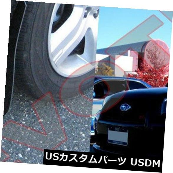 マッドガード 泥除け ラリーアーマーマッドフラップ03-08スバルフォレスターwホワイトロゴ Rally Armor Mud Flaps For 03-08 Subaru Forester w White Logo