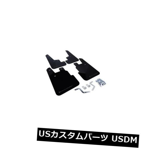 マッドガード 泥除け ラリーアーマーMF28-URブラックマッドフラップ2014-2016フォレスター用グレーロゴ付 Rally Armor MF28-UR Black Mud Flaps w/ Grey Logo for 2014-2016 Forester