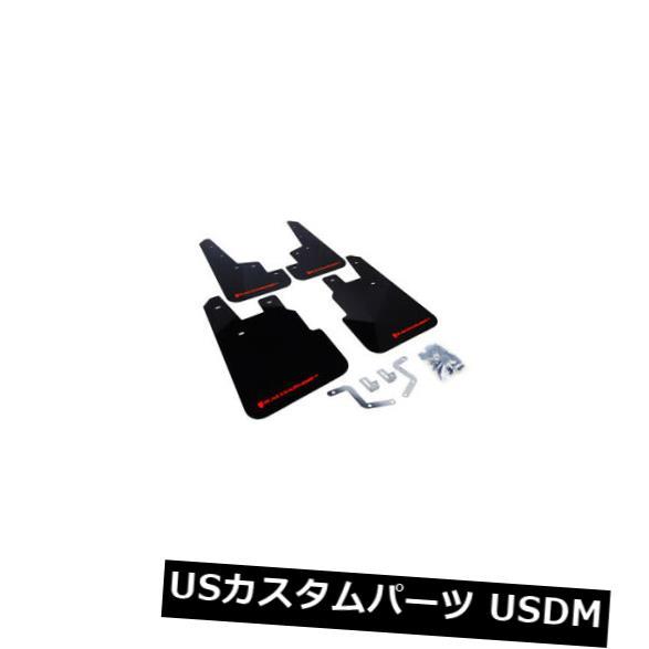 マッドガード 泥除け ラリーアーマーマッドは14-18スバルフォレスターのために赤いロゴを羽ばたかせます#MF28-UR-BLK / R  D Rally Armor Mud Flaps Red Logo For 14-18 Subaru Forester #MF28-UR-BLK/RD