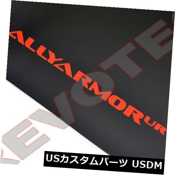 マッドガード 泥除け ラリーアーマーマッドフラップ07-17三菱ランサー4Dr wレッドロゴMF8-UR-BLK / RD Rally Armor Mud Flaps 07-17 Mitsubishi Lancer 4Dr w Red Logo MF8-UR-BLK/RD