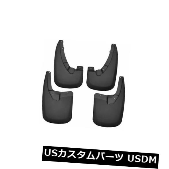 マッドガード 泥除け ハスキーライナー58176フロント&アンプ。 リアマッドは09-18ラム1500、2500& 188の黒のフラップ 3500 Husky Liners 58176 Front & Rear Mud Flaps Black For 09-18 Ram 1500. 2500 & 3500