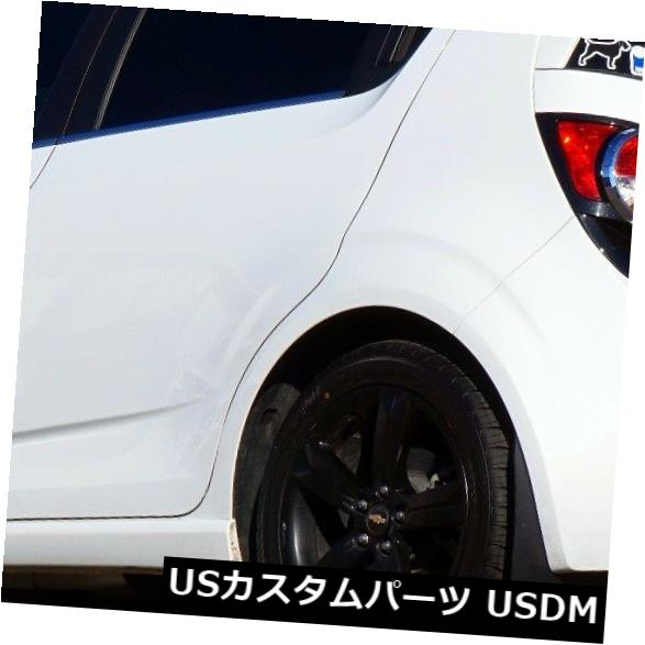 マッドガード 泥除け 2013+ CHEVY SONIC RSハッチバック用ROKBLOKZラリーマッドフラップ13、14、15、16 ROKBLOKZ RALLY MUD FLAPS for the 2013+ CHEVY SONIC RS HATCHBACK 13. 14. 15. 16