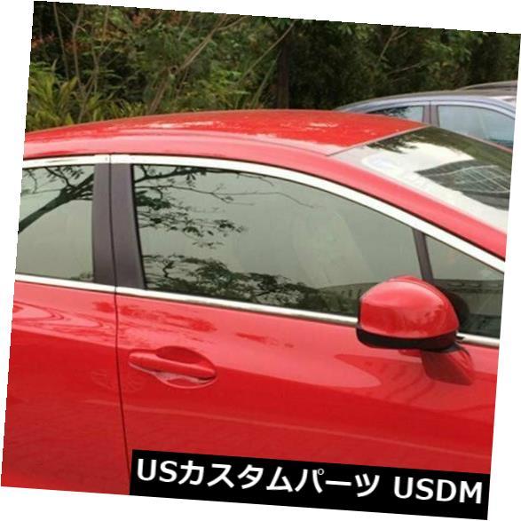 ドアピラー ホンダシビックセダン2012-2015クロームドアウィンドウピラーシルトリムカバーベゼルにフィット Fits Honda Civic Sedan 2012-2015 Chrome Door Window Pillar Sill Trim Cover Bezel