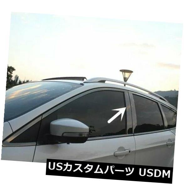 ドアピラー フォードエスケープ13-18クローム仕上げ窓柱ポストカバートリムモールディングのためのフィット Fit For Ford Escape 13-18 Chrome Finish Window Pillar Posts Cover Trim Molding