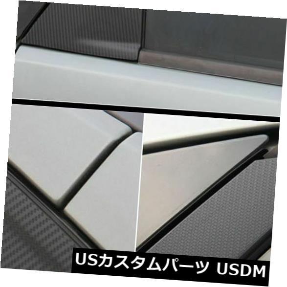 ドアピラー フォードフォーカスMK2の窓枠ABC柱カーボンファイバー保護ステッカーデカール Window Frame ABC Pillar Carbon Fiber Protection Sticker Decal For Ford Focus MK2