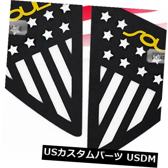 ドアピラー C柱ウィンドウスポーツプレート黄色ロゴアメリカ国旗のKIA 2014 - 2018魂 C Pillar Window Sports Plate Yellow Logo American Flag For KIA 2014 - 2018 Soul