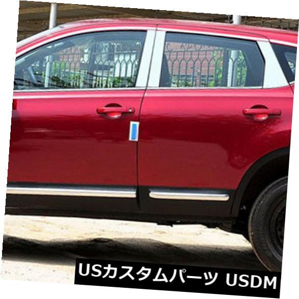 ドアピラー 日産Qashqaiのためのステンレス鋼のクロム窓枠+柱の支柱のトリムカバー Stainless Steel Chrome Window Sills+Pillar Posts Trims Cover For Nissan Qashqai