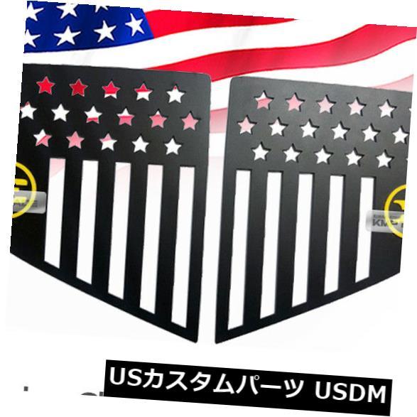 ドアピラー CピラーウィンドウスポーツプレートKIA 2017-2019スティンガーのための赤い紋章のアメリカの国旗 C Pillar Window Sports Plate Red Emblem American Flag for KIA 2017-2019 Stinger