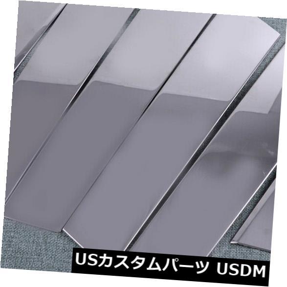 ドアピラー ホンダシビック16-18のための6xドア窓ピラーポストトリムフレームカバー成形フィット 6x Door Window Pillar Post Trim Frame Cover Molding Fit For Honda Civic 16-18