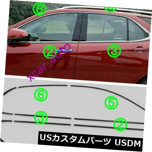 ドアピラー 18 2019シボレー・エクイノックス鋼窓ストリップカバーピラーポストトリム* 12の新 NEW FOR 18 2019 Chevrolet Equinox steel Windows Strip Cover Pillar Post Trim*12