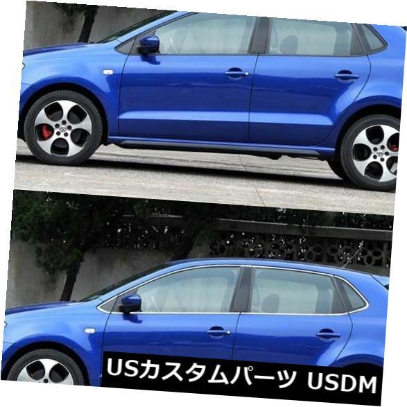 ドアピラー VWのポロ2011-2015のためにぴったり合う16pcs全窓柱の土台の鋳造物のトリム 16pcs Full Window Pillars Sill Molding Trim Exactly Fitted For VW Polo 2011-2015