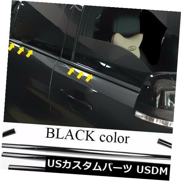 ドアピラー フォードエクスプローラ13-17のための黒い車の窓の柱の側面のカバートリムのステンレス鋼 BLACK Car Windows Pillar Side Cover Trim Stainless Steel for Ford Explorer 13-17